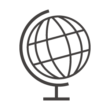 地球儀のアイコン