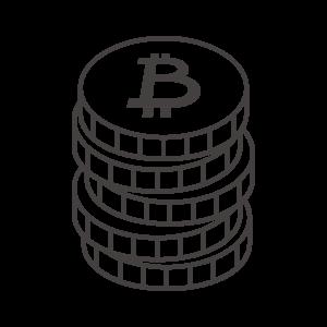 積み上がったビットコインのアイコン
