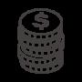 積み上がったドルのコインのアイコン02