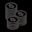 積み上がったドルのコインのアイコン03