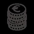 積み上がったユーロのコインのアイコン02