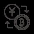 お金とビットコインの為替アイコン02