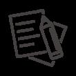 書類・ドキュメントとペンのアイコン