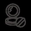 パウダーコンパクト・ファンデーションとパフのアイコン