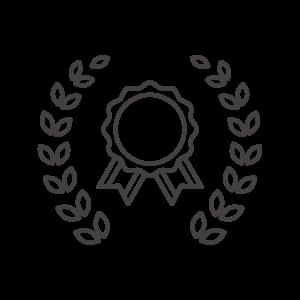 月桂樹とメダルのアイコン
