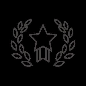 月桂樹と勲章のアイコン