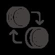 タイヤのローテーションのアイコン