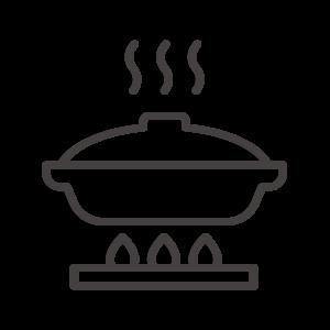 土鍋で調理/鍋料理のアイコン