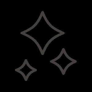 キラキラのアイコン