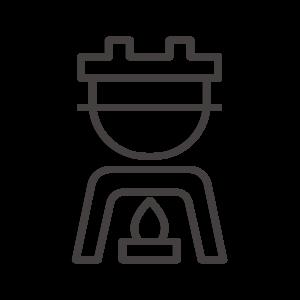 お釜/釜めし/固形燃料のアイコン