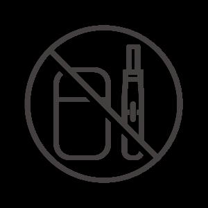 電子タバコ/加熱式タバコの禁止・禁煙アイコン
