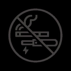 電子タバコ/加熱式タバコを含む禁煙のアイコン