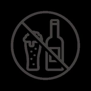 禁酒/アルコール類禁止のアイコン