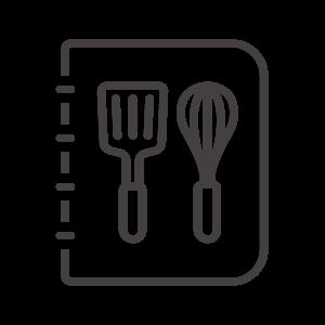 レシピ本/料理本のアイコン