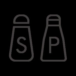 塩/胡椒/コショウ/ペッパーのアイコン