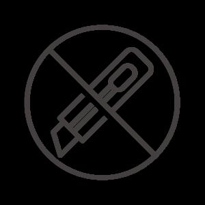 カッターの使用禁止アイコン02