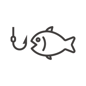 魚釣りのアイコン
