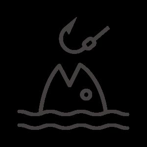 魚釣りのアイコン04