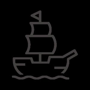 帆船のアイコン