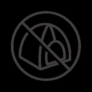 テントの設営禁止アイコン