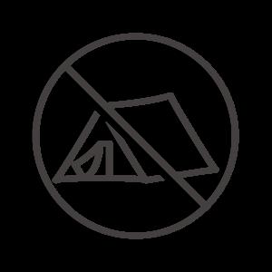 テントの設営禁止アイコン02