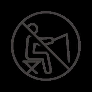 魚釣り禁止のアイコン