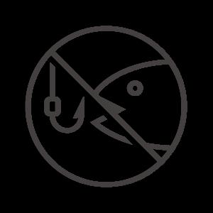 魚釣り禁止のアイコン03