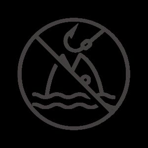 魚釣り禁止のアイコン04