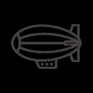 飛行船のアイコン