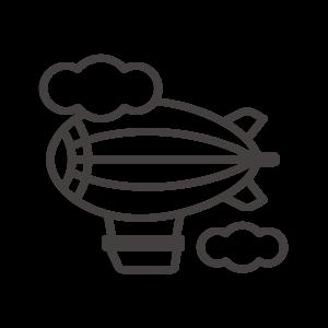 飛行船と雲のアイコン02