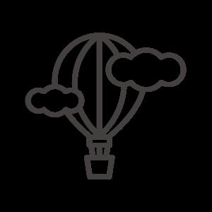 気球と雲のアイコン