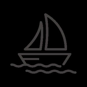 ヨットのアイコン04