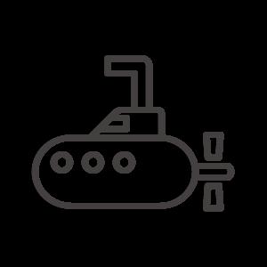 潜水艦のアイコン