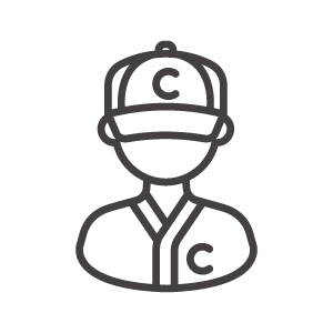 野球選手のアイコン