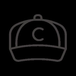 野球帽のアイコン