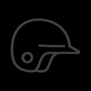 野球のヘルメットのアイコン02
