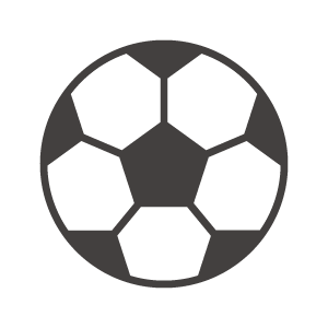 サッカーボールのアイコン02