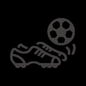 サッカーボールとスパイクのアイコン