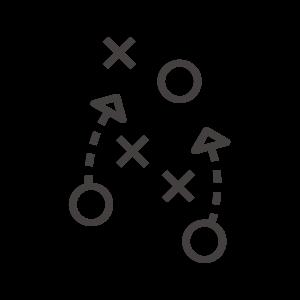 サッカーの作戦/戦術/戦略のアイコン02