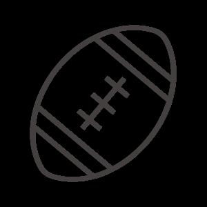 ラグビーボール/アメフトのアイコン