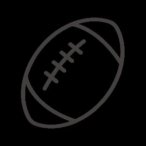 ラグビーボール/アメフトのアイコン02