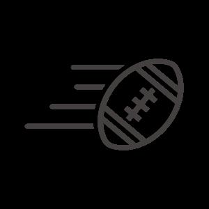 ラグビーボール/アメフトのアイコン03