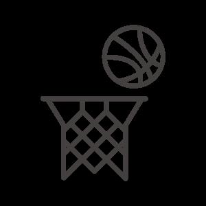 バスケ/シュート/ゴールのアイコン
