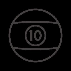 ビリヤードのボールのアイコン02