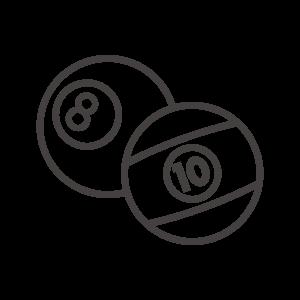 ビリヤードのボールのアイコン03