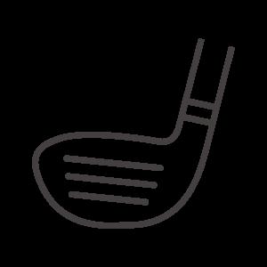 ゴルフのドライバーのアイコン