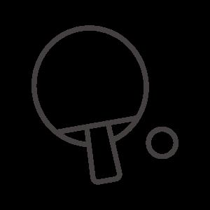 卓球のラケットのアイコン