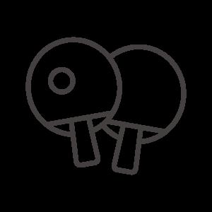 卓球のラケットのアイコン02