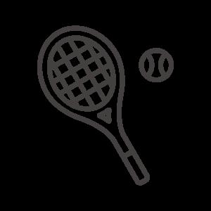 テニスラケットとボールのアイコン