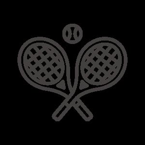 テニスラケットとボールのアイコン02